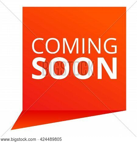 Coming Soon Plate Icon. Cartoon Of Coming Soon Plate Vector Icon For Web Design Isolated On White Ba