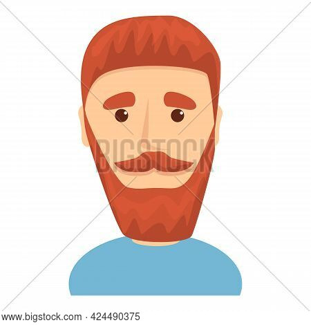 Man With Beard Icon. Cartoon Of Man With Beard Vector Icon For Web Design Isolated On White Backgrou
