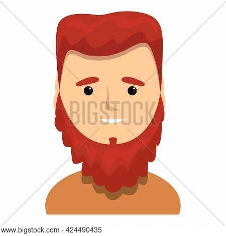Red Haired Bearded Swede Icon. Cartoon Of Red Haired Bearded Swede Vector Icon For Web Design Isolat