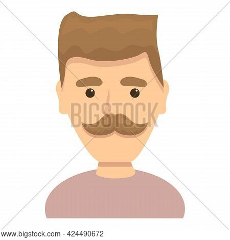 Man With Funny Hairstyle Icon. Cartoon Of Man With Funny Hairstyle Vector Icon For Web Design Isolat