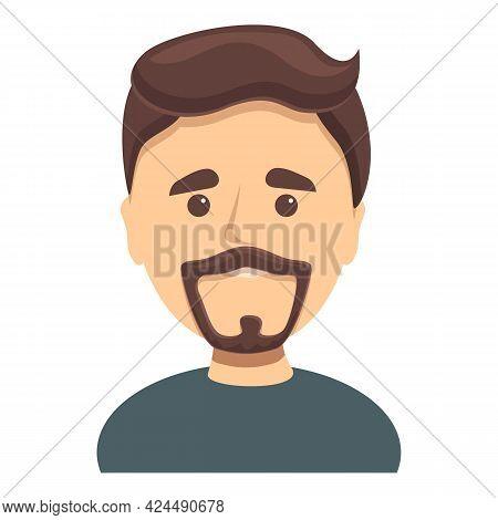 Portrait Of Spaniard With Beard Icon. Cartoon Of Portrait Of Spaniard With Beard Vector Icon For Web
