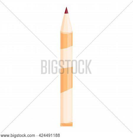 Korean Lip Pencil Icon. Cartoon Of Korean Lip Pencil Vector Icon For Web Design Isolated On White Ba