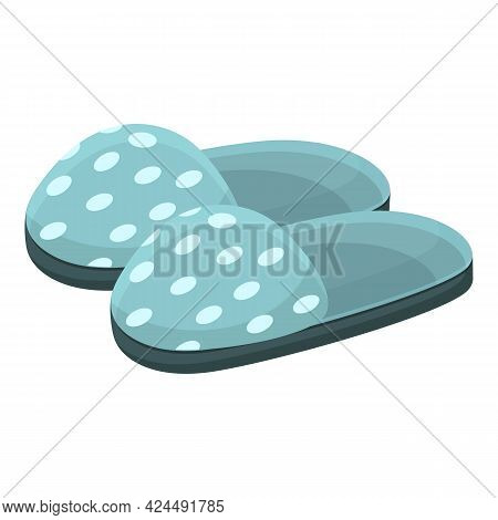Patterned Slippers Icon. Cartoon Of Patterned Slippers Vector Icon For Web Design Isolated On White