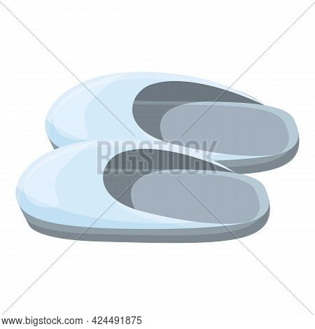 Light Colored Slippers Icon. Cartoon Of Light Colored Slippers Vector Icon For Web Design Isolated O