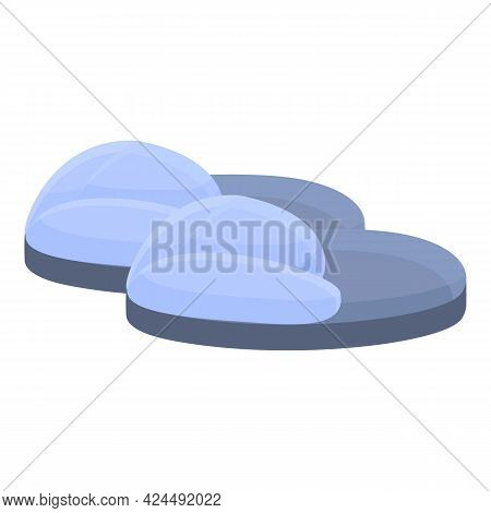 Transparent Slippers Icon. Cartoon Of Transparent Slippers Vector Icon For Web Design Isolated On Wh