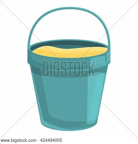 Bucket Of Beach Sand Icon. Cartoon Of Bucket Of Beach Sand Vector Icon For Web Design Isolated On Wh