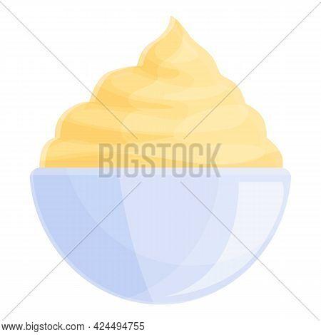 Caramel Ice Cream Icon. Cartoon Of Caramel Ice Cream Vector Icon For Web Design Isolated On White Ba