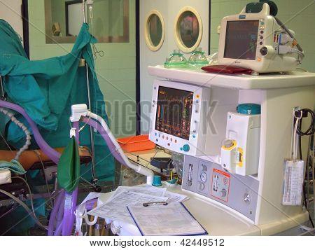 Ecg Monitor At Surgery Room