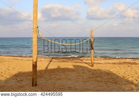 Sports Equipment And Equipment In A City Park On The Shores Of The Mediterranean Sea In Northern Isr