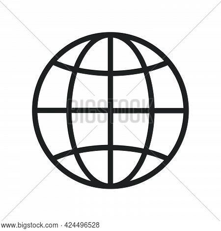 Worldwide Global Vector Earth Illustration Abstract. Business World Globe Network On Worldwide Globa