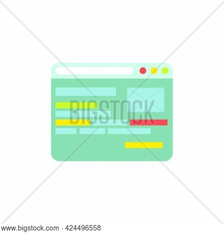 Web Page Icon Design Vector Illustration Website Business. Concept Web Page Computer Technology Inte