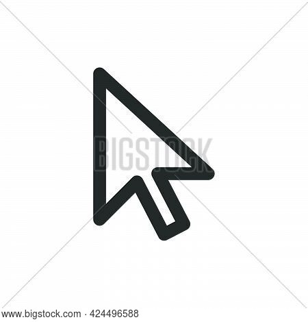 Computer Cursor Mouse Vector Icon Technology Arrow. Web Symbol Computer Cursor Illustration. Mouse C