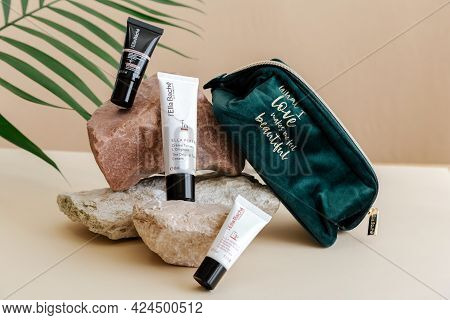 Ella Bache French Branded Natural Cosmetics For Skin Care. Set Cosmetic Products Ella Bache Moisturi