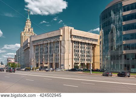 The Building Of The Arbitration Court Of The Moscow Region, As Seen From Academician Sakharov Avenue