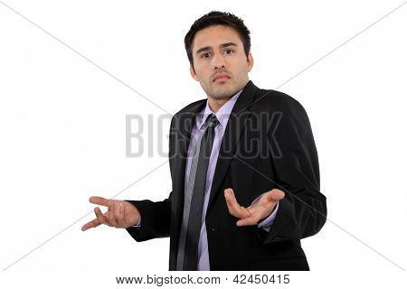 A perplexed businessman