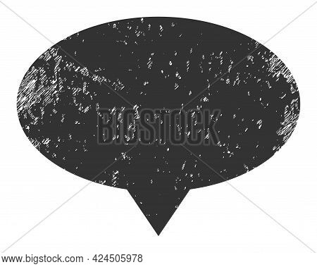 Banner Pointer Icon With Grunge Style. Isolated Vector Banner Pointer Icon Image With Grunge Rubber