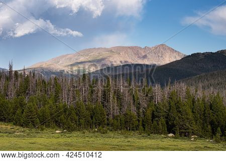 Flatiron Mountain Is 12,241 Feet / 3,731 Meters And Is Located In Rocky Mountain National Park. Flat