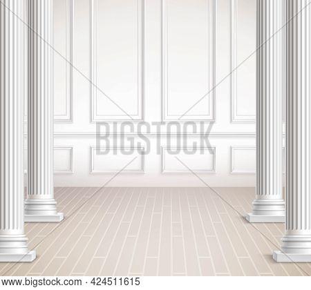 Classic Interior Design. Interior Vector Design. Classic Interior Realistic Illustration. Classic In