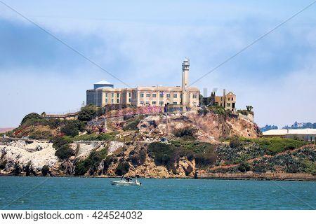 June 8, 2021 In San Francisco, Ca:  Historic Prison On Alcatraz Island Taken In The San Francisco, C