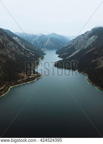 View of Bavarian Alps, mountain ranges in Germany