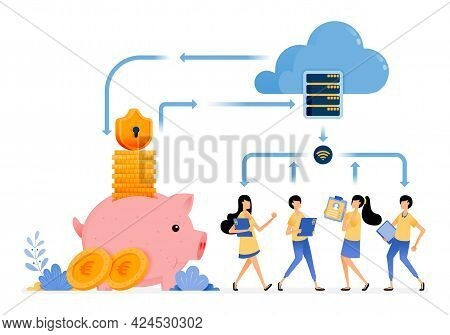 Vector Design Of Security Financial Services With Cloud Database Technology. Protection Of Transacti