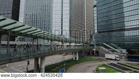 Central, Hong Kong 09 April 2021: Hong Kong business district