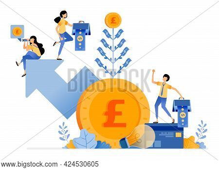 Vector Design Of Increase And Get Additional Investment Value. Good Returns In Financial Bank Intere