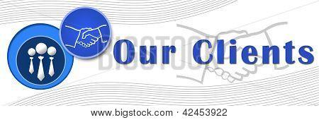 Our Clients Banner - Blue