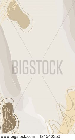 Vector Abstract Background In Beige Tones For Invitations, Business Cards, Stories Background, Stori