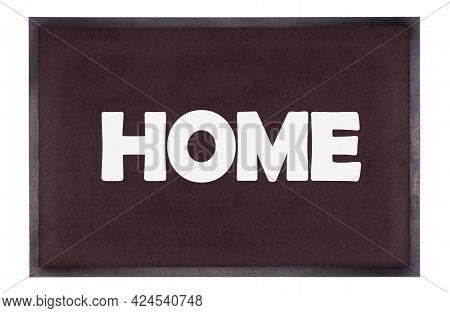 Modern Black Doormat Isolated On White - Home