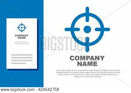 Blue Target Sport Icon Isolated On White Background. Clean Target With Numbers For Shooting Range Or