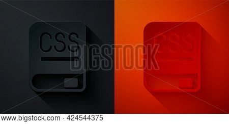 Paper Cut Books About Programming Icon Isolated On Black And Red Background. Programming Language Co