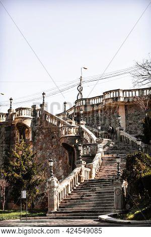 Stone Staircase Of Elizabeth Esplanade, Rapa Galbena, Iasi Romania