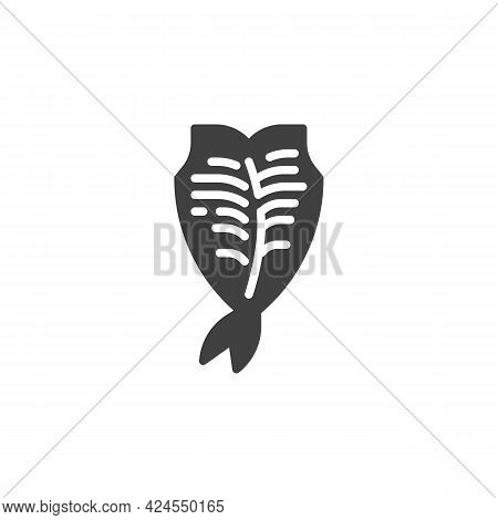 Dried Fish Snack Vector Icon. Filled Flat Sign For Mobile Concept And Web Design. Dried Fish Fillet