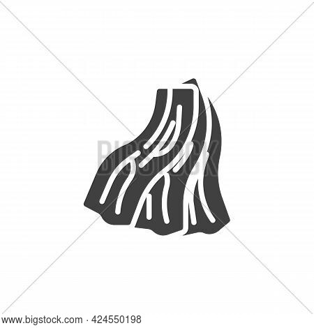 Bacon Slices Vector Icon. Filled Flat Sign For Mobile Concept And Web Design. Smoked Bacon Strips Gl