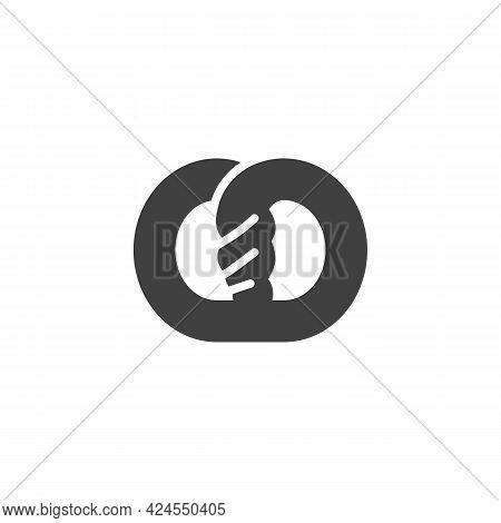 Pretzel Vector Icon. Filled Flat Sign For Mobile Concept And Web Design. Pretzel Glyph Icon. Symbol,