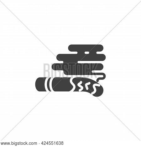 Cigarette Ash Vector Icon. Filled Flat Sign For Mobile Concept And Web Design. Smoking Cigarette Gly