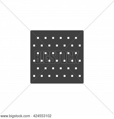 Aluminum Metal Panel Vector Icon. Filled Flat Sign For Mobile Concept And Web Design. Metal Plate Gl