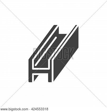 Steel Beam Vector Icon. Filled Flat Sign For Mobile Concept And Web Design. Metal Beam Glyph Icon. S