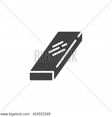 Metal Beam Vector Icon. Filled Flat Sign For Mobile Concept And Web Design. Steel Beam Glyph Icon. S