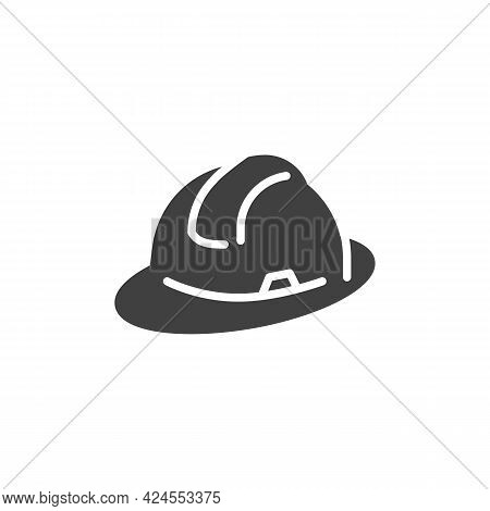 Hard Hat Vector Icon. Filled Flat Sign For Mobile Concept And Web Design. Safety Glyph Icon. Symbol,