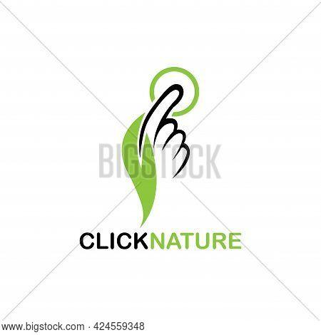 Click Nature Design Logo Vector. Click Nature Business Logo