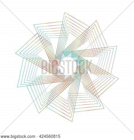 Spirograph Abstract Element On A White Background.