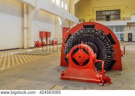 Tel-aviv, Israel - June 17, 2021: View Of The Turbines Hall In The Historic Reading A Power Station,