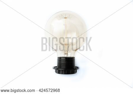 Abstract Discovering New Solutions, Thinking Fresh Thoughts Ideas, Light Bulb Providing Shine, Idea