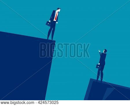 Business People In Risky Situation Helping And Supporting Each Other