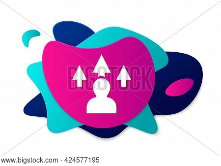 Color Web Design And Front End Development Icon Isolated On White Background. Abstract Banner With L