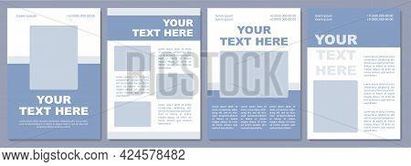 Travel Brochure Template. Advertising Tours, Hotels. Flyer, Booklet, Leaflet Print, Cover Design Wit