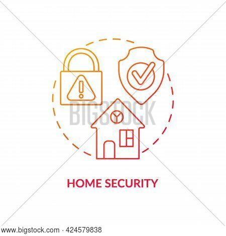 Home Security Concept Icon. Summer Vacation Safety Abstract Idea Thin Line Illustration. Safeguardin