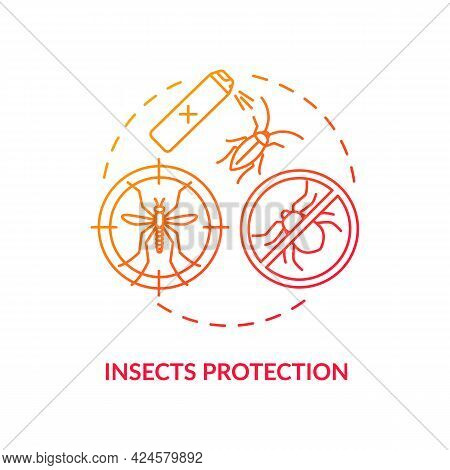 Insects Protection Concept Icon. Summer Vacation Safety Abstract Idea Thin Line Illustration. Mosqui